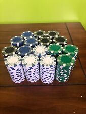 320 Poker Chips 7.5g - 4 Colors  16=20 Pack - Heavy High Quality Chips New