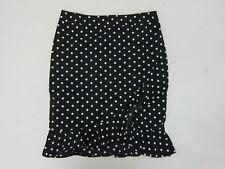 1e1eda8a1e Boohoo Women's Polka Dot Ruffle Hem Mini Skirt Medium Black NWT