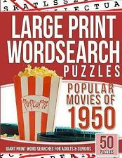 Large Print Wordsearches Puzzles Popular Movies 1950 Giant Pr by Games Word Sear