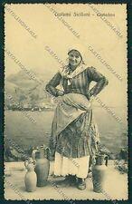 Palermo Costumi Siciliani cartolina QQ0882