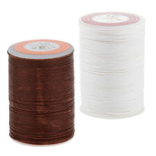 2Pcs Waxed Linen Wax Thread Cord Sewing Craft for Leather Caft Stitching