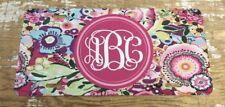 Monogram License Plate Pink Floral Personalized Car Tag New