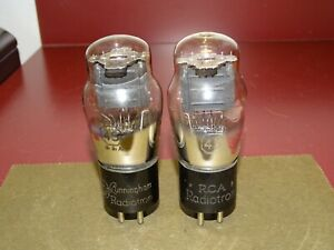 2 RCA Radiotron Type 45 Radio/Audio Power Tubes, Good