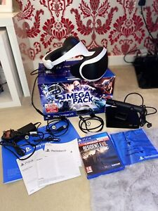 Sony Playstation VR Headset & Camera Bundle With Resident Evil Game On Disc