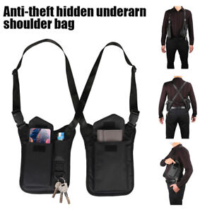 Anti-Theft Underarm Holster Shoulder Bag Wallet Phone Case Right Hand Left Hand