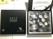 2013 Silver Proof Set United States Mint Limited Edition With Box & COA