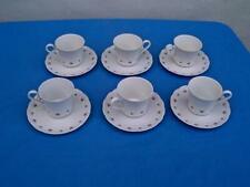 FRANCONIA KRAUTHEIM GERMANY  *PIROUETTE*  6 TEA CUP & SAUCER SETS UNUSED