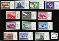 Complete MNH stamp set / 1944 Military Hero's Day / Third Reich / WWII Germany