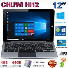 """12"""" 64GB Chuwi Hi12 Tablet PC Win10+Android 11000mAh 2160*1440+ Keyboard 3G PAD"""