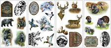 WILDLIFE WALL STICKERS 25 New BEARS DEER TURKEYS DECALS Country Hunting Decor