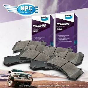 8pcs Front + Rear Bendix Ultimate Brake Pads Set for Mazda RX-7 FC FD 1.3 RWD