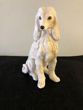 Vintage White Vanilla Afghan Hound Dog Figurine