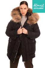 New ListingRrp €1290 Dsquared2 Down Parka Jacket Size 38 / Xs Black Raccoon Fur Trim Hooded