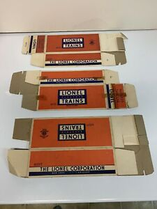 Lionel (3) Empty Boxes For 6035 Tank ,6037  caboose and 6001T Tender.