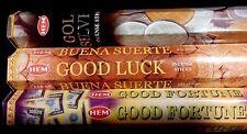 GOOD LUCK Gold Silver Fortune 60 HEM Incense Sticks Sampler Gift Set ST PATRICKS
