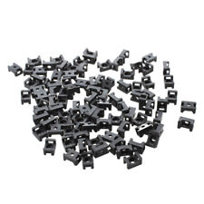 New Black 4.5mm Width Cable Tie Base Saddle Type Mount Wire Holder 100Pcs   X6J9