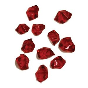 2 lb bag of Acrylic Ice Vase Filler - Ruby Red #GU8970RB (NWT)