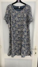 Heine Floral Dress Blue Womens Size 22 Bnwt