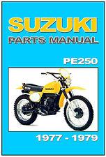 SUZUKI Parts Manual PE250 1977 1978 & 1979 Catalog List PE250B PE250C PE250N