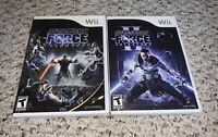 Star Wars: The Force Unleashed I & II 2 Nintendo Wii Lot Bundle