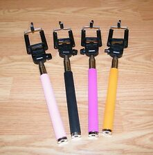 Lot of 4 Unbranded Multi Colored Monopod Selfie Sticks For Smartphone **READ**