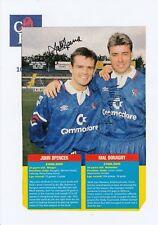 John Spencer & mal Donaghy Chelsea originale firmato a mano Rivista di taglio