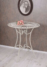 Side Table Art Nouveau Table Balcony Table Kitchen Table Iron Metal Table White