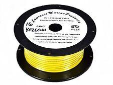 16 Gauge Tinned Marine Primary Wire / Yellow / 50 Foot Reel