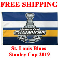 HOT St. Louis Blues Stanley Cup Champions 2019 Flag Banner 3x5 ft NHL Hockey NEW