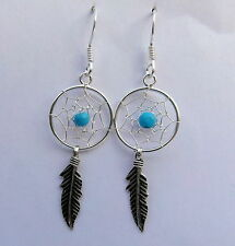 Pair Of  Sterling Silver (925)  Dream Catcher  Dangly Earrings !!   New !!