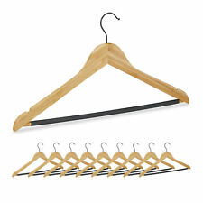 Kleiderbügel Bambus 10er Set Hemdbügel Hosenbügel Jackenbügel drehbar rutschfest