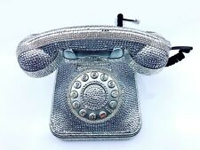 Blingustyle Sparkling Crystal Retro Silver Real Telephone Home/office Gift