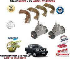 FOR NISSAN NAVARA PICKUP 3.0 DCI V6 2010-> BRAKE SHOES + 2X WHEEL CYLINDERS SET