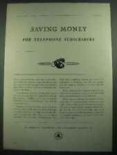 1931 Bell Telephone Ad - Saving Money for Subscribers