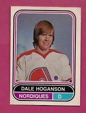 RARE 1975-76 OPC WHA # 2 NORDIQUES DALE HOGANSON VG  CARD (INV#1731)