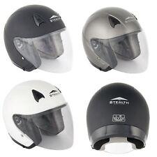 Stealth Metropolitan NT200 Open Face Motorcycle Helmet ECE Road Legal Lid New