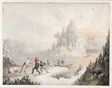 Baxter Print: The Arctic Expedition in Search of Sir John Franklin.