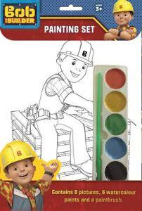 Bob The Builder Childrens Boys Girls Painting Set Activity Set Ages 3+