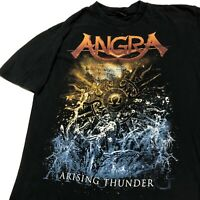 Vintage Angra Arising Thunder T Shirt Mens Adult S Black Metal Band Music