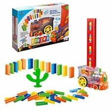 Domino Electric Train Blocks Set Toys Building and Stacking for 3 4 5 6 7