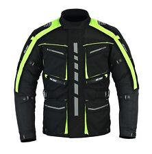 Motorbike Motorcycle HiVis Jacket, CE Approved Armour Cordura Textile