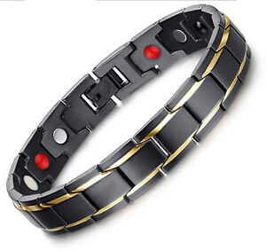 Best seller Stainless Steel Magnetic Therapy Jewelry Men's Bracelet 8.66''