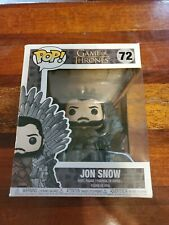 "Funko Pop! Game of Thrones: Jon Snow on the Iron Throne #72 6"" Super Sized Pop"