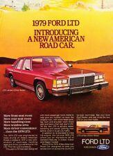 1979 Ford LTD Landau Sedan Original Advertisement Print Art Car Ad J994