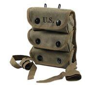 WWII WW2 US ARMY AMMO 3 THREE POCKET GRENADE POUCH TOOL KIT