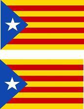 2x Adhesivo adesivi pegatina sticker bandera catlauna catalan estelada blava