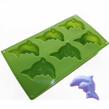 Pair of Dolphins Chocolate Jello Crayon Silicone Soap Mold Making Supplies