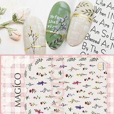 Adhesive 3D Nail Stickers Small Flowers Decal Manicure Nail Art Decoration DIY