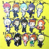TouHou Project 3D 2-Sides Keychain KeyRing Anime Rubber Strap Phone Charm Gift