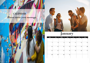 2021 Personalised Photo Calendar A4, perfect birthday gift